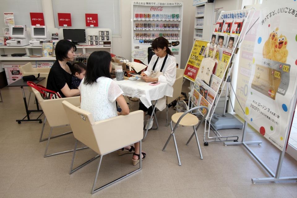 tama.cafe 似顔絵プレゼント@ドコモショップ志布志店